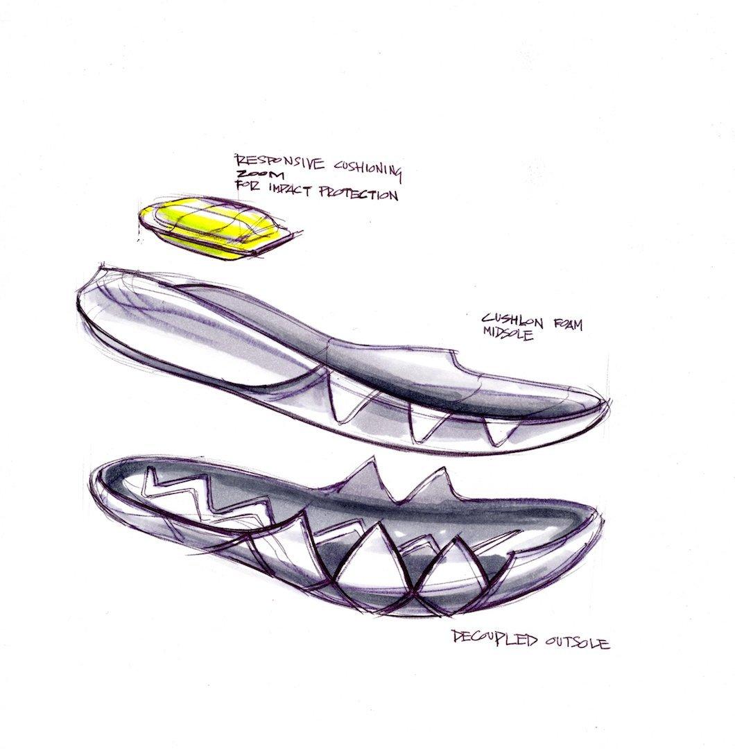 El sistema de suela y mediasuela de las Kyrie 4