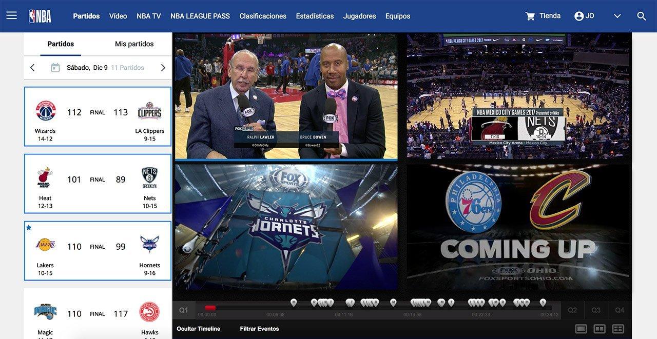 NBA League Pass en multipantalla