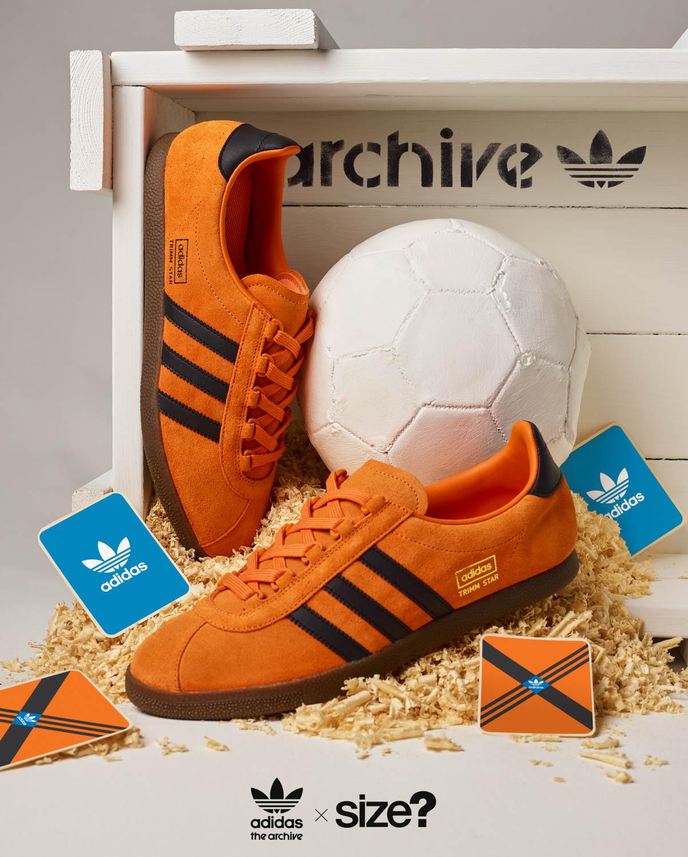 size? Exclusive adidas Originals Archive Trimm Star 'Pumpkin'